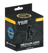 "Ram Mount Double Socket Arm Medium 1"" Ball RAMMC201"